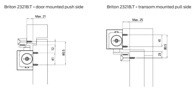 BR-2321B T-SES BRITON 2321B T Adj Size EN2-4 Back check Silver